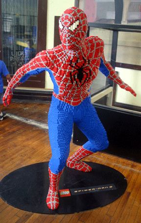Spiderman (He's a lego)