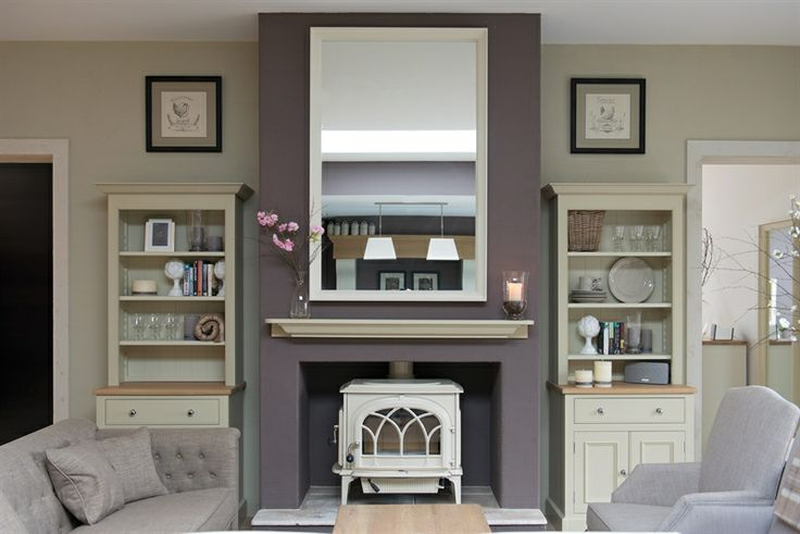 Fireplace idea for end of kitchen French doors to garden would go
