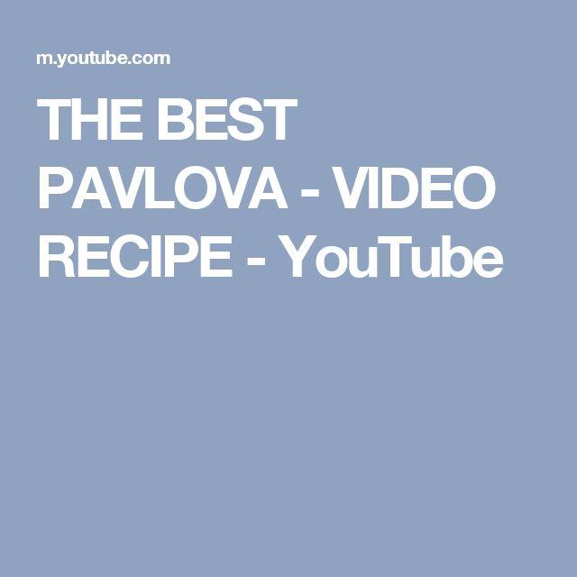 BEST PAVLOVA - VIDEO RECIPE - YouTube | Desserts | Pinterest | Pavlova ...