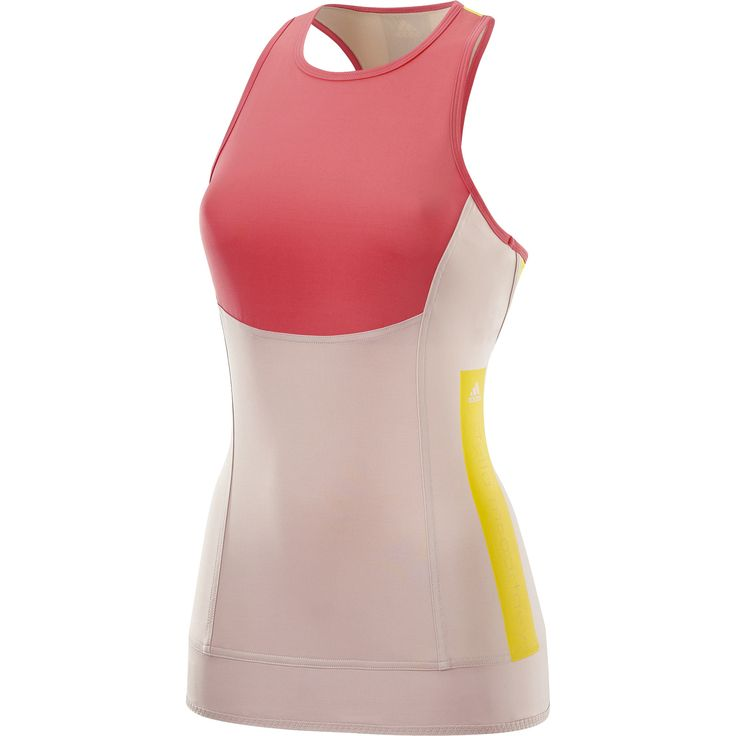 Coral tank top by Stella McCartney for Adidas.