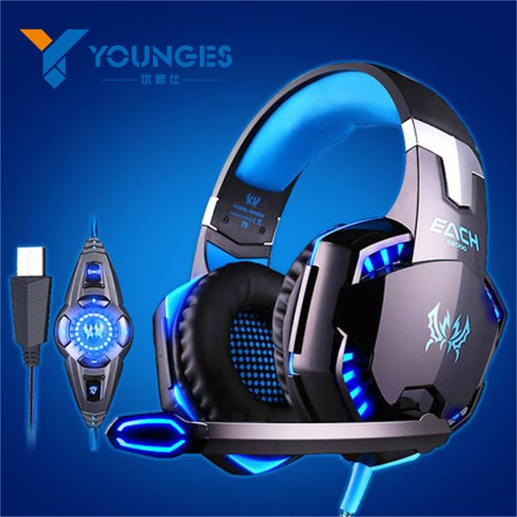 YG-2200 USB 7.1 Surround Sound Vibration gaming headphones for PC Headset Earphones With Microphone glowing headphone LED Lights