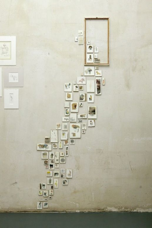 LOVE this idea for the BIG wall and all the small pix!