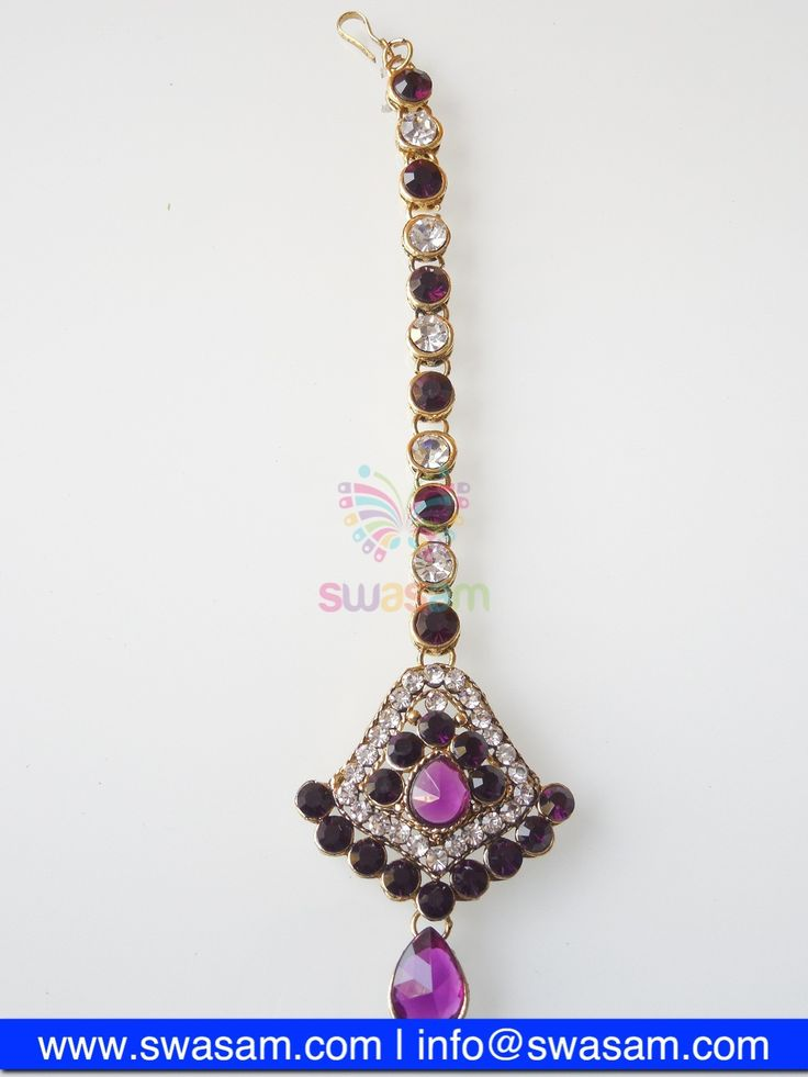 Indian Jewelry Store | Swasam.com: Tikka with Perls and White Stones - Tikka - Jewelry Shop to Buy The Best Indian Jewelry  http://www.swasam.com/jewelry/tikka/tikka-with-perls-and-white-stones-1341.html?___SID=U  #indianjewelry #indian #jewelry #tikka