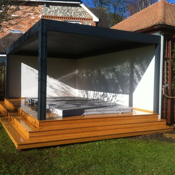 Renson Camargue Louvered Roof Terrace Cover Over A