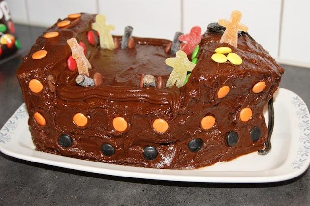 Veronikas lille matkrok: Mammas hjemmelagde sjokoladekake forkledd som sjørøverskip
