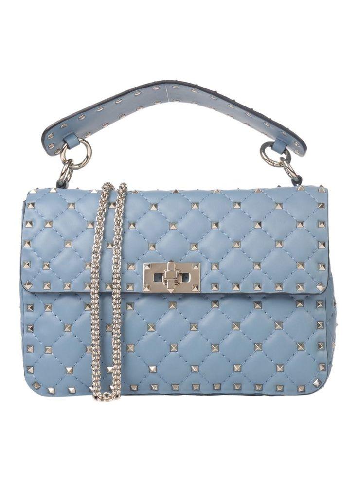 VALENTINO Valentino Garavani Rockstud Spike Medium Chain Bag. #valentino #bags #shoulder bags #hand bags #leather #