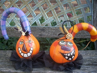Two new Halloween Gourds that I just finished up.
