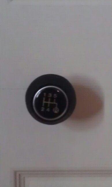 Shift knob closet door pulls for garage theme boys room