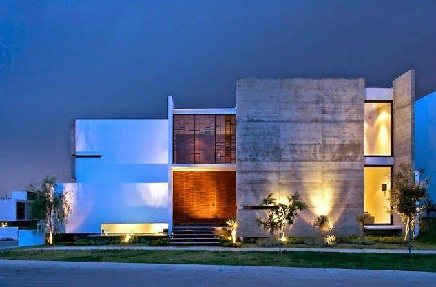 Fachadas de casas modernas com paisagismo e ilumina o for Arquitectura minimalista casas