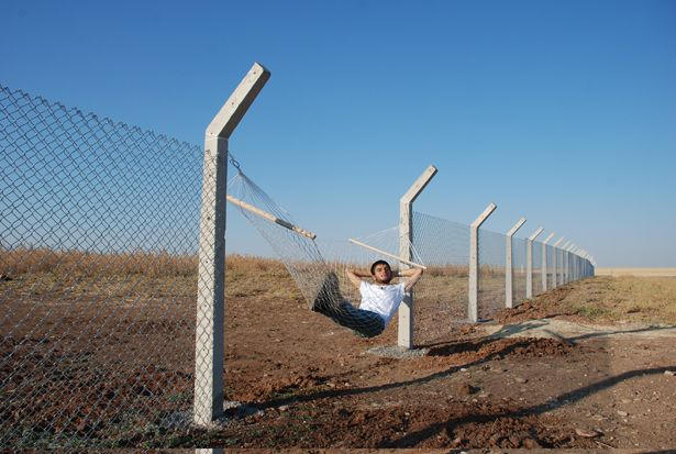 "Murat Gok, ""Border (Hammock),"" 2010. Courtesy the artist and PILOT Gallery, Istanbul."
