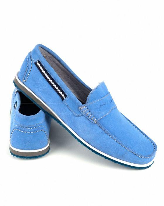 Zapatos náuticos Leyva - Azul Claro