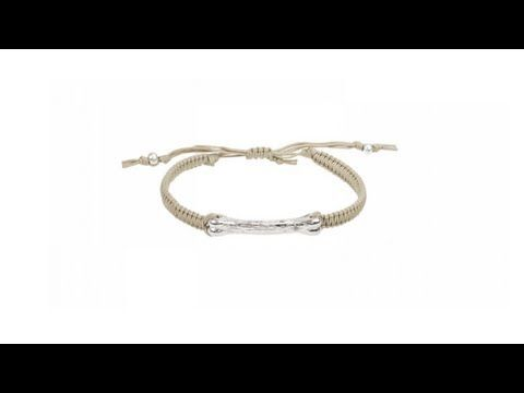 To buy now click on the link: http://shrsl.com/?~3frk  The #Tai Braided #Beige #Silk #Cord and #Silver Bone Bar #Bracelet features a silver platted bone bar center piece based on a beige hand braided silk adjustable bracelet. Tai #Jewelry's use of colorful beads, intricate hand braiding, and spiritual symbols creates this unique #collection with an overall bohemian feeling.