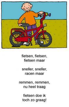 jules op de fiets vers