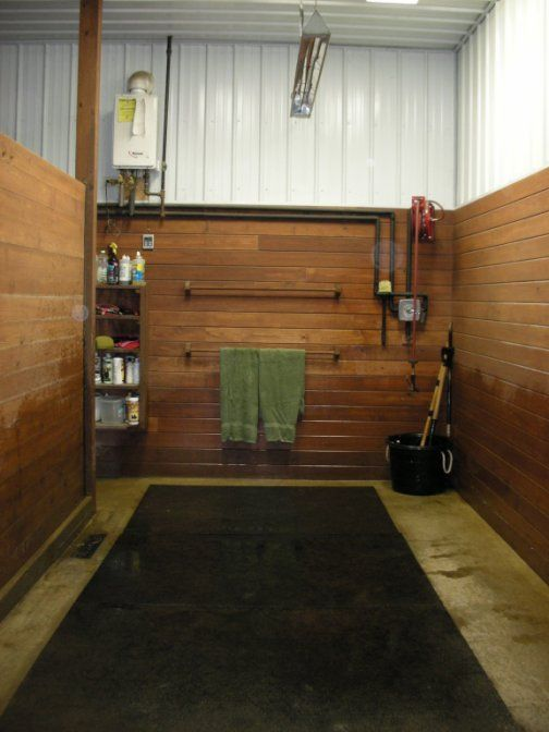 wash stall ideas towles towel racks brushes and brush boxes hose - Horse Barn Design Ideas