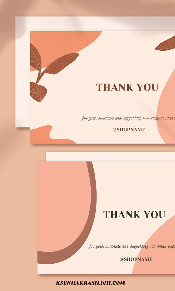 4 In 1 Thank You For Your Order Printable Card Instant Etsy In 2021 Thank You Card Design Printable Cards Thank You Card Template