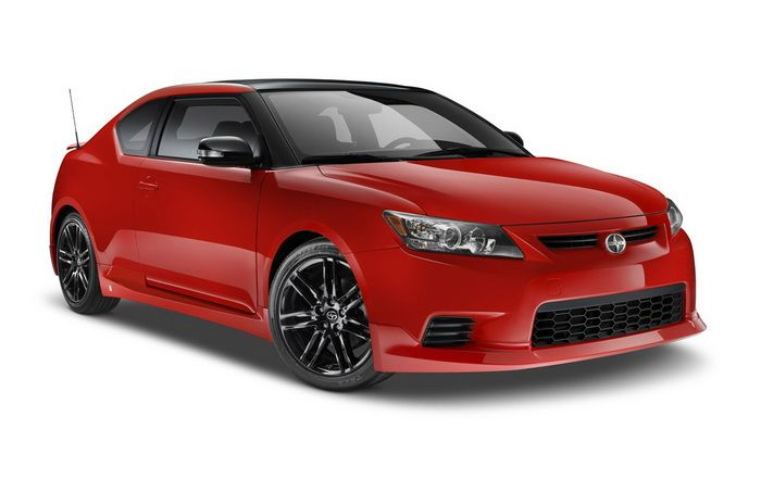 Toyota Scion tC RS but white with black rims... After my car in paid off this will be my next!