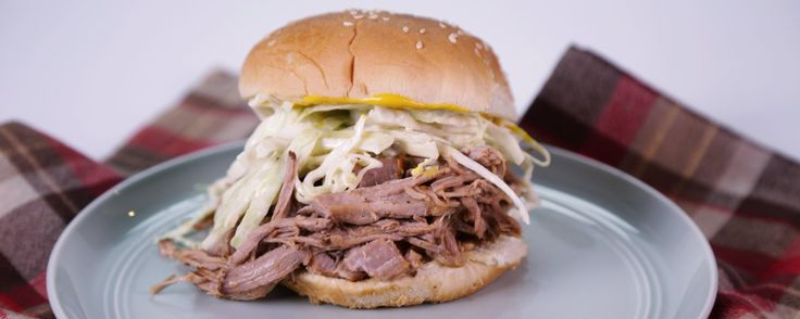 Trisha Yearwood's Pulled Pork w/ Vinegar Sauce & Cole Slaw Recipe