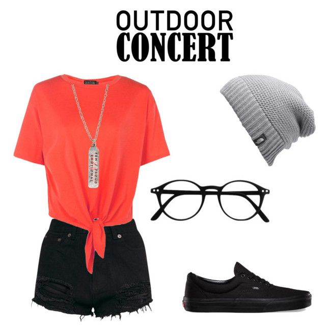 """""""TØP summer concert"""" by westervelt-katie on Polyvore featuring Boohoo, Hot Topic, The North Face, Vans, 60secondstyle and outdoorconcerts"""