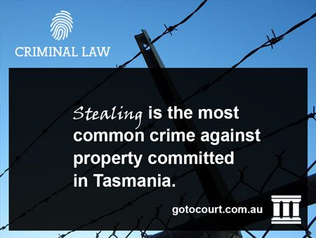 """https://www.gotocourt.com.au/criminal-law/tas/stealing """"Stealing"""" occurs when a person, without the owner's consent, dishonestly takes property with the intent or permanently depriving the owner of that property"""