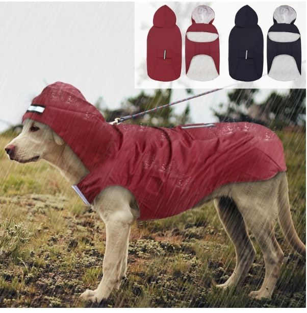 Top Selling Reflective Raincoat For Big Pet Dogs Golden