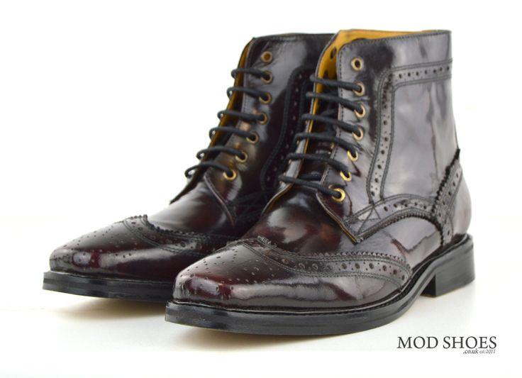 Oxblood Brogue Boots – Landslides (Peaky Blinders Style)