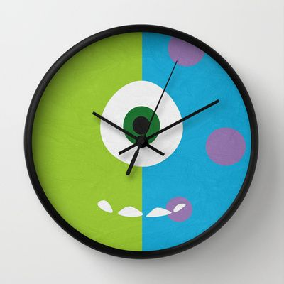 Monsters Inc   Minimalist Poster 02 Wall Clock