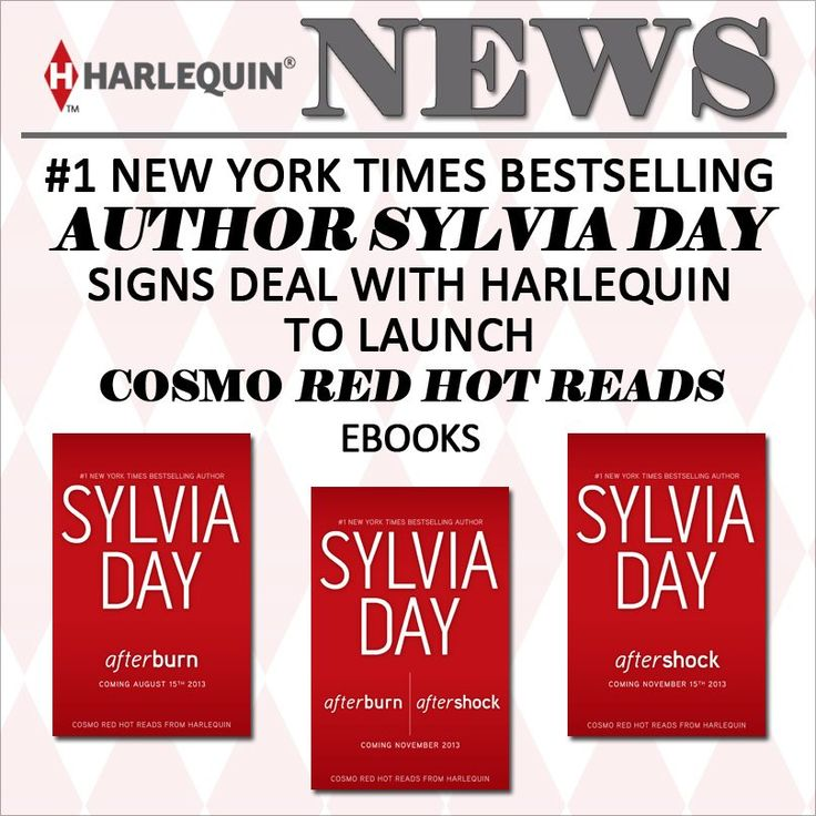 Harlequin signs deal with Sylvia Day!! Cosmo Red Hot Reads!  #Crossfire Series