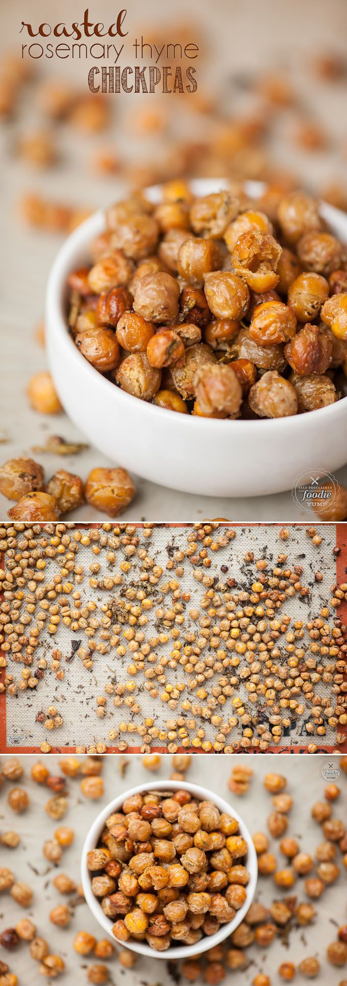If you are looking for a tasty snack packed full of nutritional benefits, you cannot beat these delicious and high in fiber Roasted Rosemary Thyme Chickpeas.