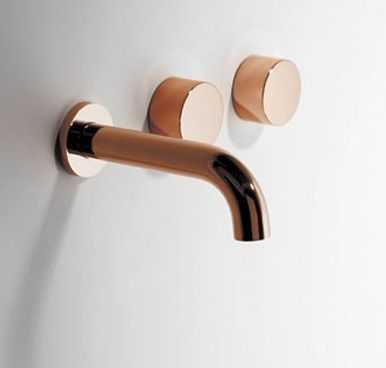 Brodware Halo Wall Set 1.9505.08.2.01 The Radii engineering is a style unique to #Brodware. This is extremely contemporary and at the forefront of #bathroom #tapware. A modernised approach is essential but the finish is truly amazing. Its also versatile with its function as it can ordered as a Basin, Spa or Kitchen Set Spout lengths: 150 & 200mm Finish; Colours, Black, White, Nickel, Brass, Copper, Iron, Brushed Chrome, Gold #renovation #architecture #interiordesign