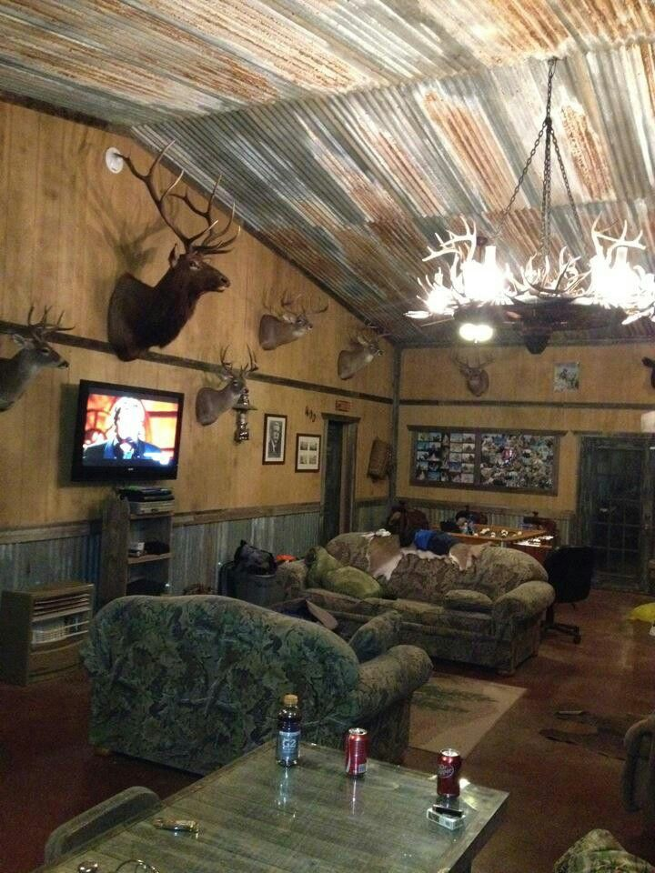 25 best ideas about rustic man cave on pinterest for Hunting cabin interior designs