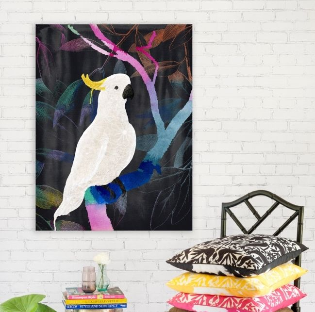 Rainbow Cockatoo - Canvas Art Print