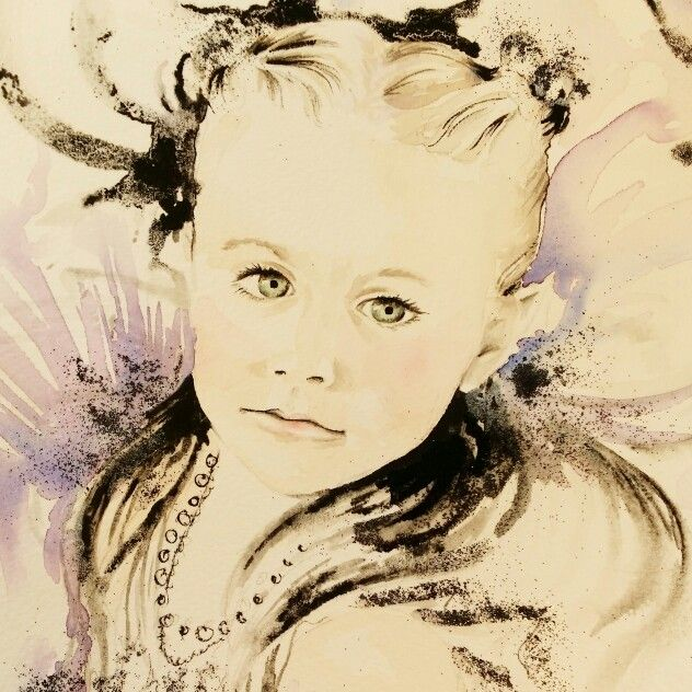 Aquarelle and ink portrait / tinterova.com