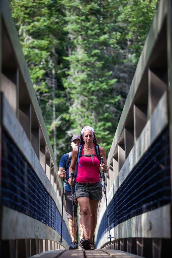 Randonnée pédestre/hiking in Lanaudière, Québec.