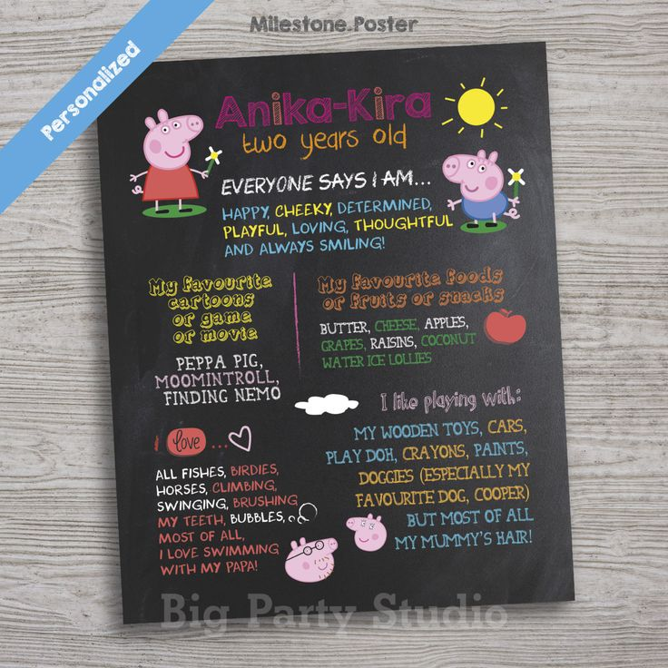 printable horse birthday party invitations free%0A Peppa Pig Personalized Milestone Chalk Poster  Peppa Pig Theme  Peppa Pig  Gift  Peppa