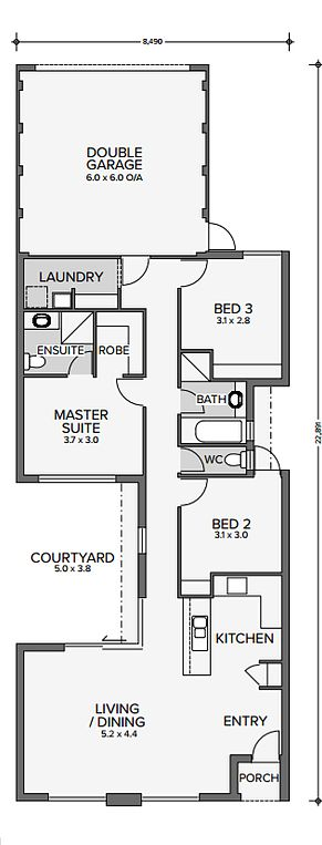 New Home Centre WA : First Home Buyer Specialist | The Carbon Design 3x2