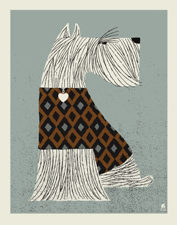 Scottie??!...SCHNAUZER 11 X 14 SCREEN PRINT | Limited Edition Art Posters Archives | Methane Studios