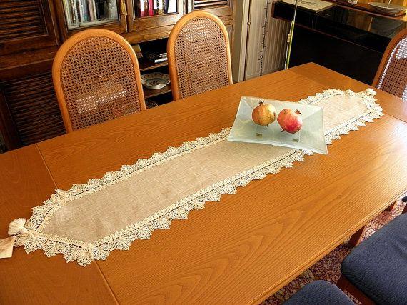 Precious lace shabby chic elegant linen by ClassyInteriorsDeco