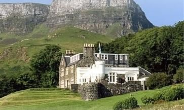 The Flodigarry Hotel was once the home to Flora MacDonald. Isle Of Skye.