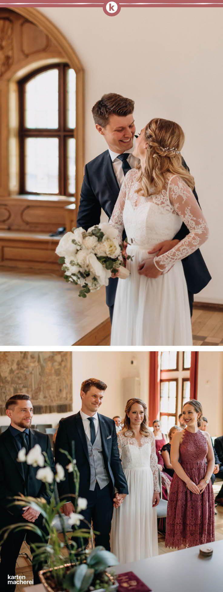 Real Wedding: Katharina & Robert Eine romantische Trauung im Standesamt, ein Mee...