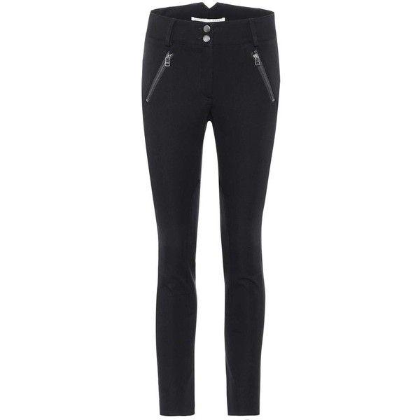 Veronica Beard Ellie Jodhpur Trousers (€380) ❤ liked on Polyvore featuring pants, capris, blue, blue skinny pants, riding pants, blue pants, skinny pants and veronica beard