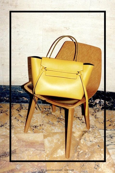 6 Le Fashion Blog Daria Werbowy Celine FW 2014 Ad Campaign By Juergen Teller Yellow Belt Bag photo 6-Le-Fashion-Blog-Daria-Werbowy-Celine-FW...