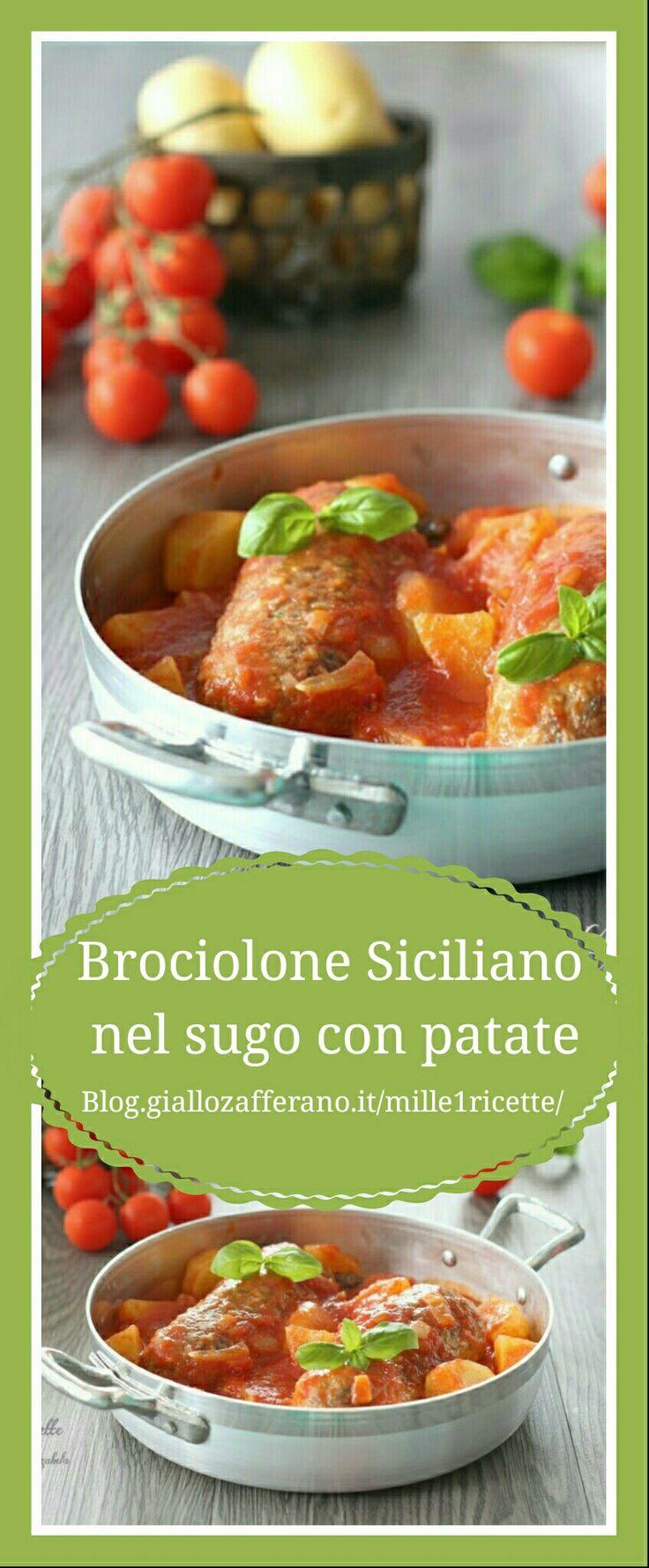 Brociolone Siciliano nel sugo con patate   ➡➡➡ http://blog.giallozafferano.it/mille1ricette/brociolone-siciliano-nel-sugo-con-patate/ Un secondo perfetto