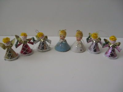 Vintage Christmas Ornaments ~ Angel Christmas Ornaments