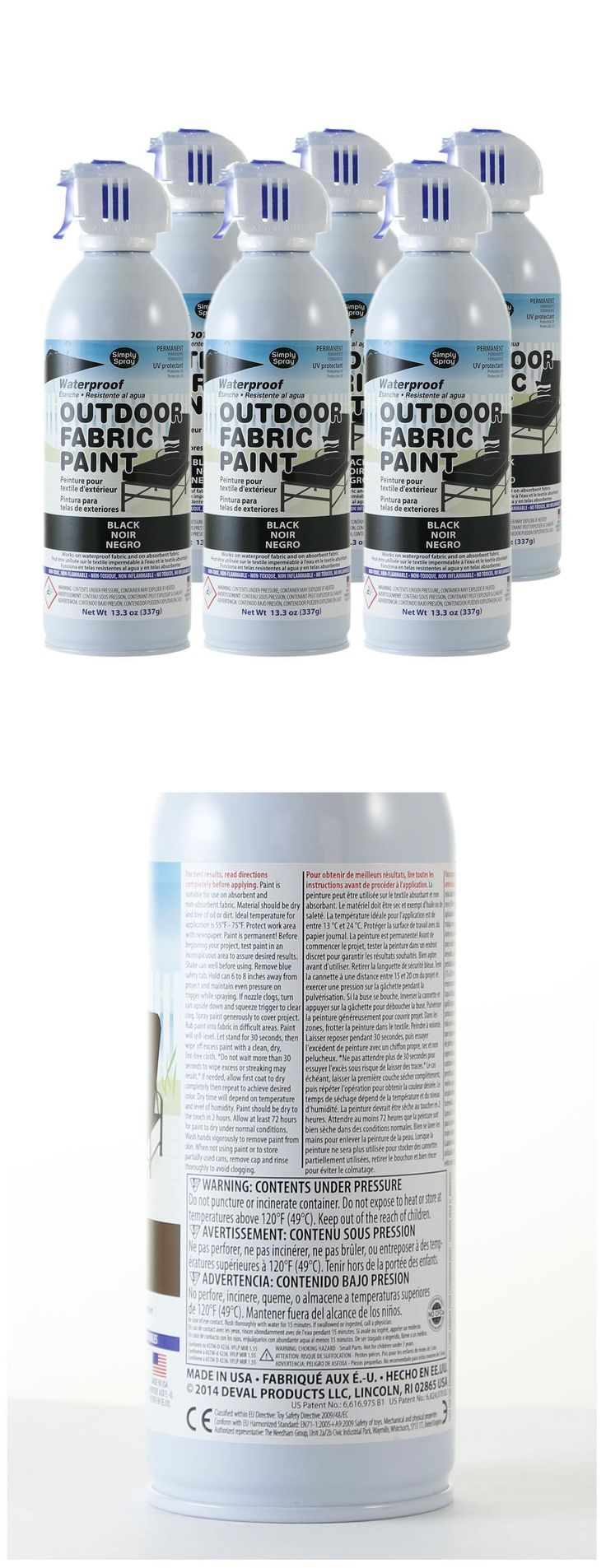 Fabric Paints and Markers 134560: Outdoor Waterproof Fabric Spray Paint For Furniture Boats Convertibles - 6 Pack -> BUY IT NOW ONLY: $84 on eBay!