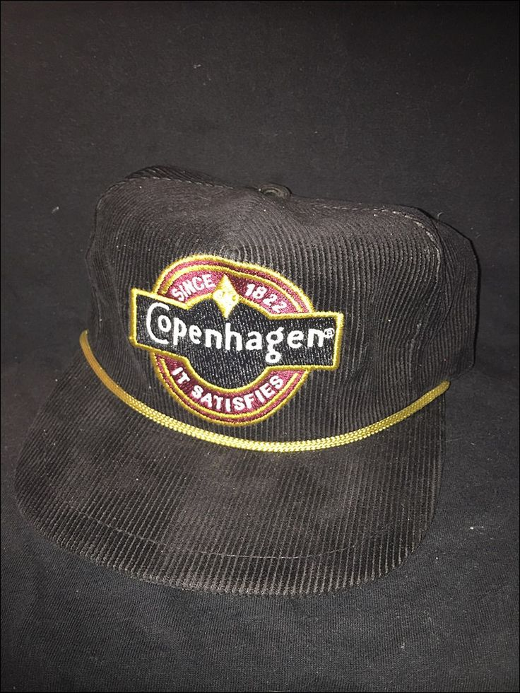 Vintage Deadstock 80's Copenhagen Chew Snuff Tobacco Strapback Hat by RackRaidersVtg on Etsy