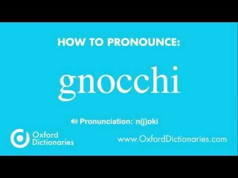 How to pronounce gnocchi