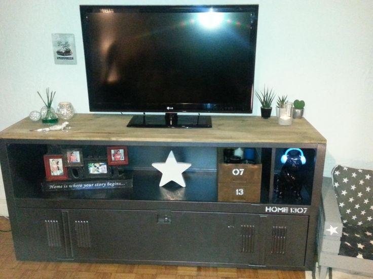 Vestiaire relooké en meuble TV