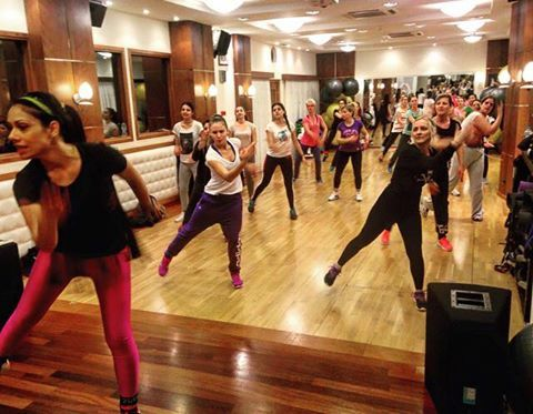 Zumba with Eleni, join us!  #fitness #kosgym #bodynspoul