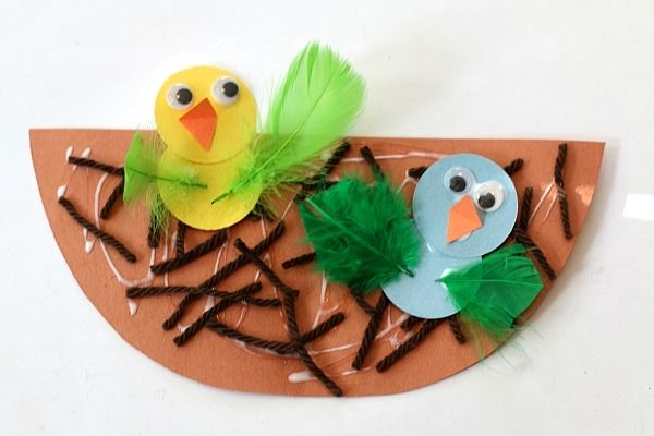 Spring Crafts For Kids Nest And Ba Bird Craft Buggy And Buddy Bird