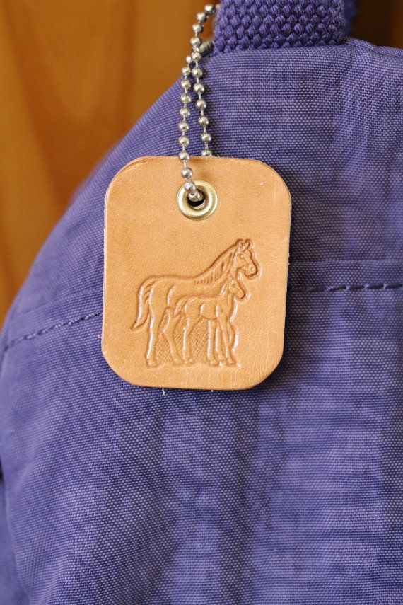 Horse Lover Leather Bag Charm Horse Bag Charm, Horse Bag Tag by Tina's Leather Crafts on Etsy.com. Shop Now or Repin To Remember.